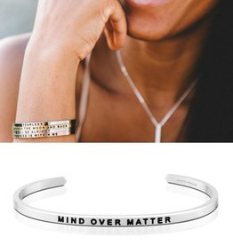 MantraBand Mind Over Matter - Silver