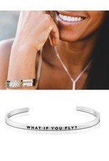 MantraBand What If You Fly? Mantra Bracelet - Silver