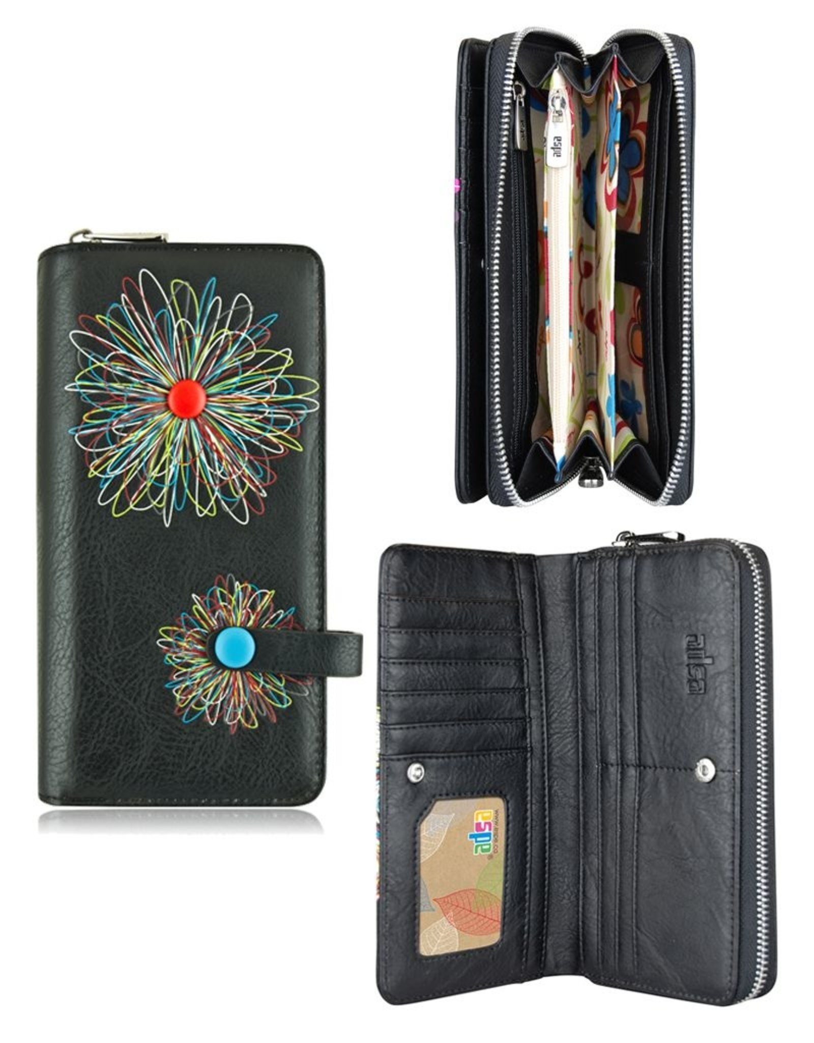 espe/storm Abstract Long Wallet Black