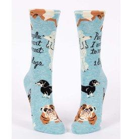 Blue Q People to Meet: Dogs Women's Crew Socks