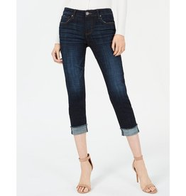 Amy Crop Straight - Roll Up Fray Jean