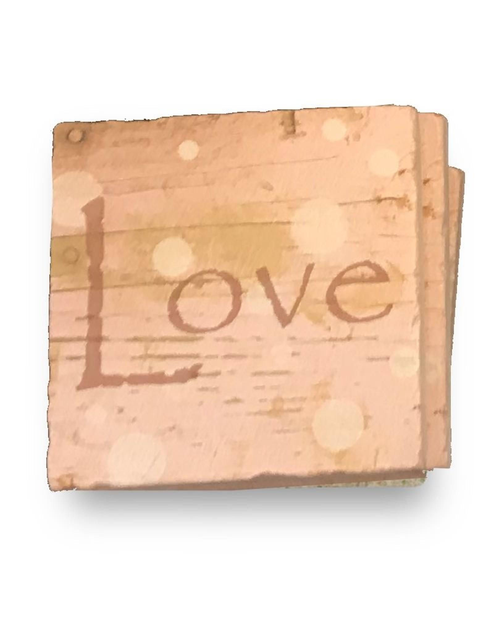 Paisley and Parsley Stone Coaster, Love
