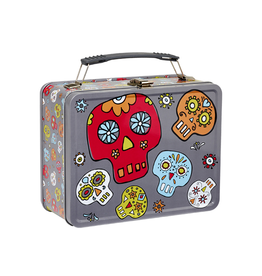 Ore Retro Metal Lunch Box Dia Muertos