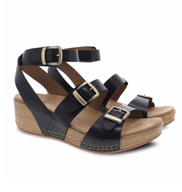 Dansko Lou Burnished Calf Buckle Sandal