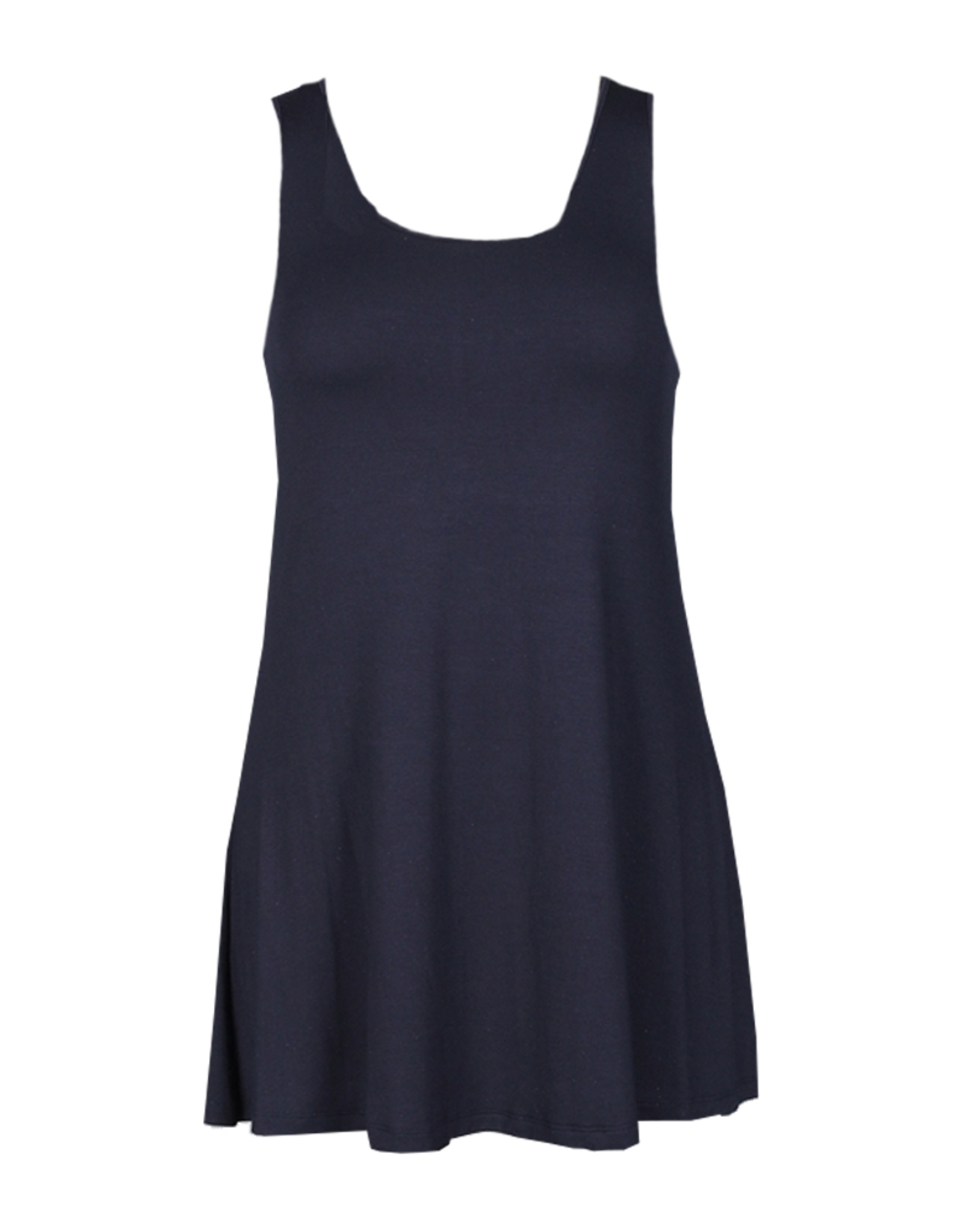 Comfy Sleeveless Scoop Neckline Tunic