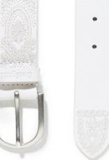 Desigual White Embossed Belt