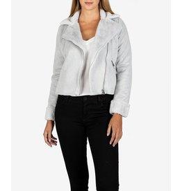Candece Faux-Fur Moto Jacket