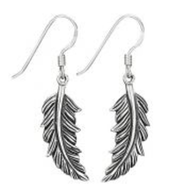 Tiger Mountain Flowing Feather Earrings