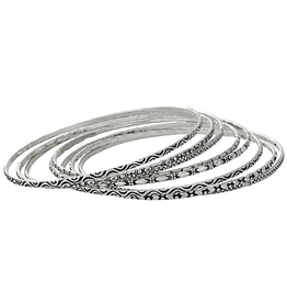 Tiger Mountain Set of 8 Thin Bangles