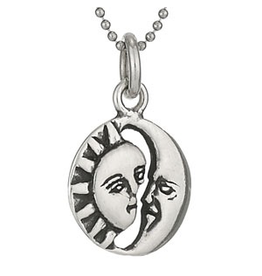 Tiger Mountain Silver Sun & Moon Necklace