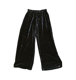 Cut Loose Long Wide Velvet Pant-Final Sale