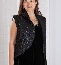 Cut Loose Boiled Wool Sequin Oval Vest