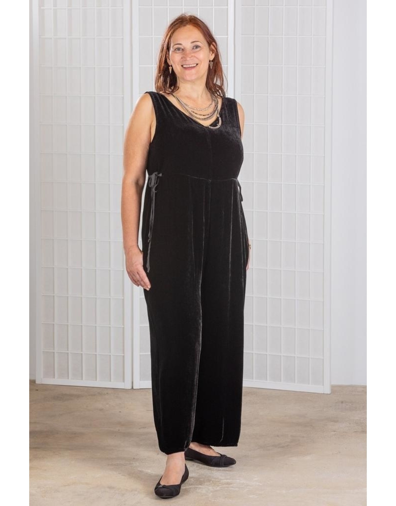 Cut Loose V-Neck Velvet Jumpsuit