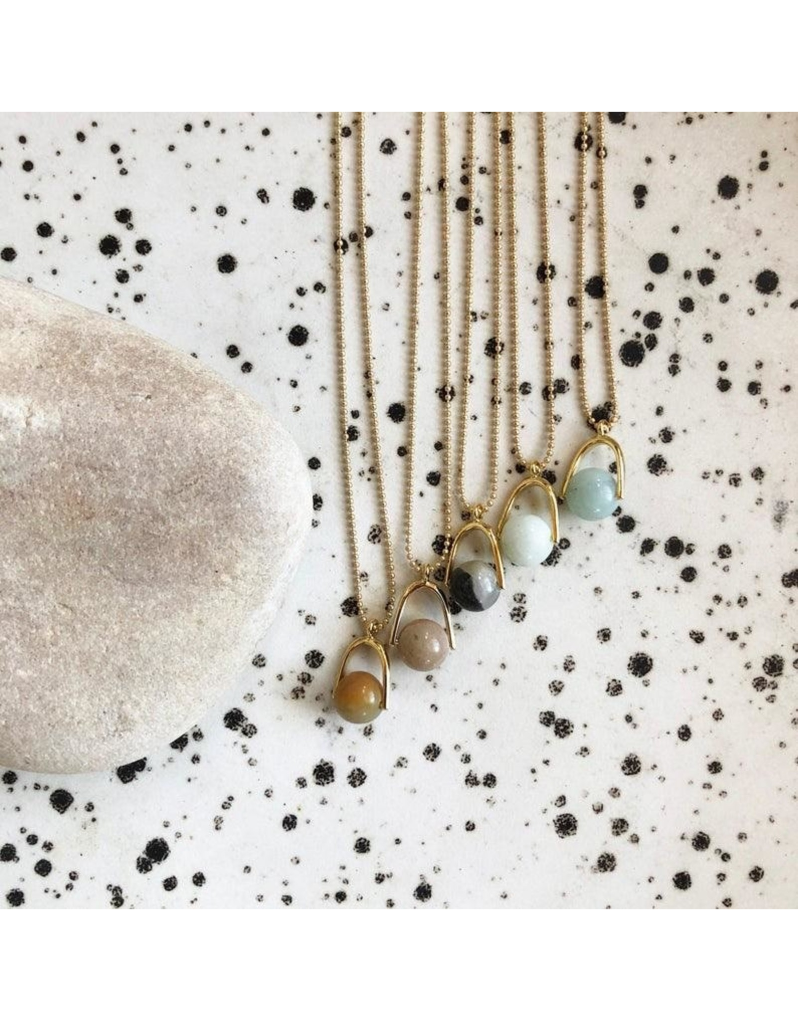 fate&Coincidence Tiny Amazonite Ball Necklace