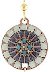 Earth Dreams Copper Flower Mandala Earrings