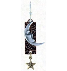 Earth Dreams Silver Cresent Moon & Star Earrings