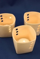 """Donna's Hands Ceramic Votive Holder-Approximately: 2.25"""" square by 2.5"""" tall"""