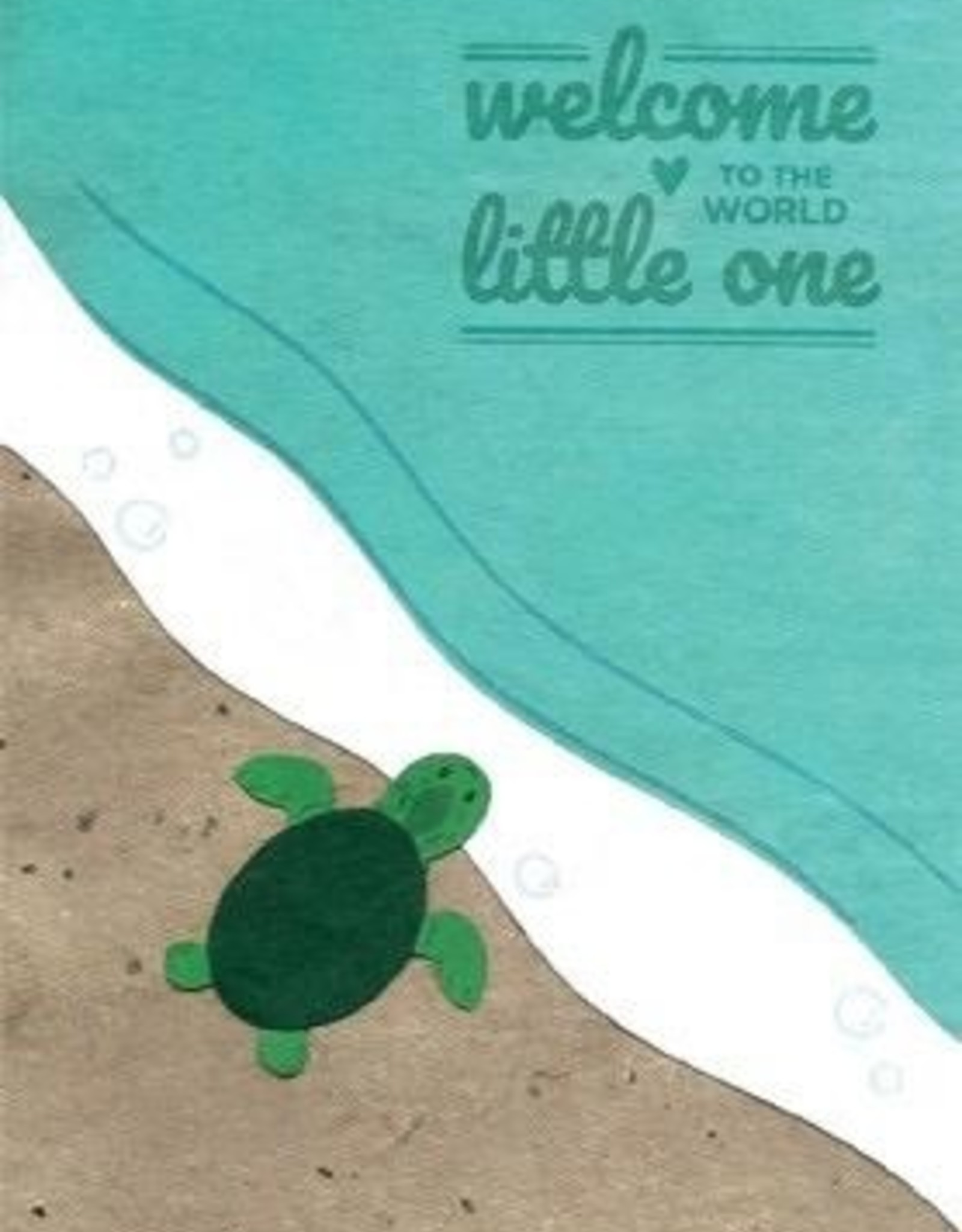 Baby Turtle Congrats Card