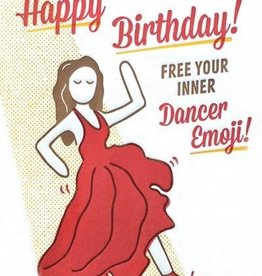 good paper Dancer Emoji Birthday Card