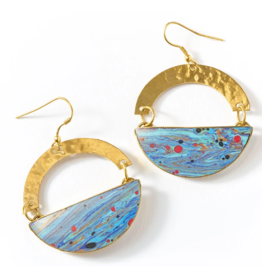 Matr Boomie Ria Earrings - Multi Swirl