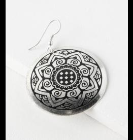 Matr Boomie Sun Medallion Earrings - Silver