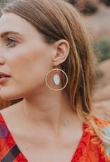Matr Boomie Dhavala Earrings - Pearl Hoop
