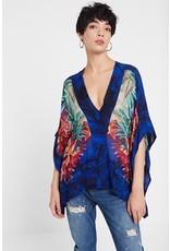 Desigual Floral Kimono Blouse