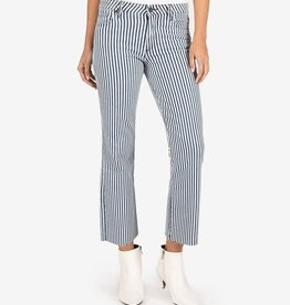 Kelsey High Rise Stripe Ankle Flare Jeans