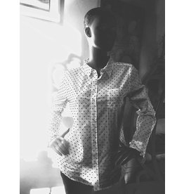 Dylan Classic-Chic Dot Blouse