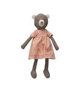 Creative Co-op Plush Bear in Dress