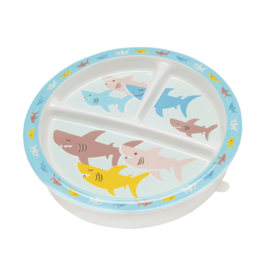 Ore Divided Suction Plate - Smiley Shark