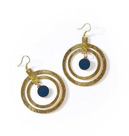 Matr Boomie Ria Earrings - Cobalt Hoop