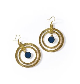Matr Boomie Ria Earrings - Cobalt Hoop