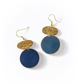 Matr Boomie Ria Earrings - Cobalt Drop