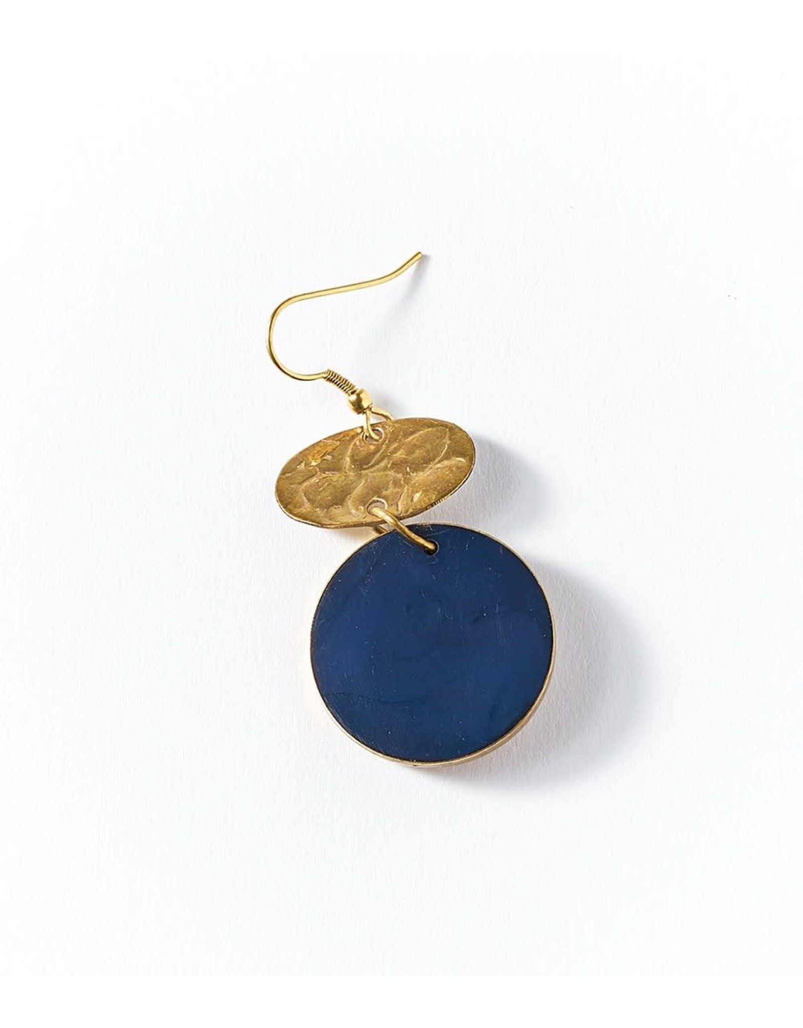 Matr Boomie Ria Earrings- Cobalt Drop
