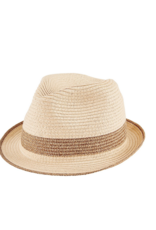 Women's Metallic Stripe Fedora