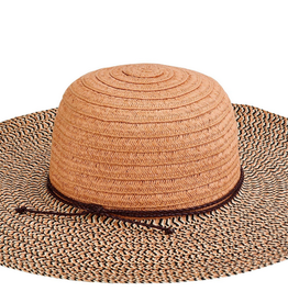 San Diego Hat Women's Paperbraid Solid Crown Mix Brim Hat