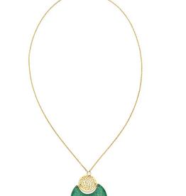Matr Boomie Tara Stone Necklace -Crescent