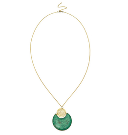 Matr Boomie Tara Stone Necklace -Crescent