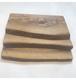 """Natural Olive Rustic Cutting Board 11.9"""""""