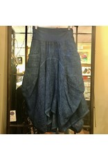 Porto Linen/Cotton Long 2 Pocket Skirt - P-28909