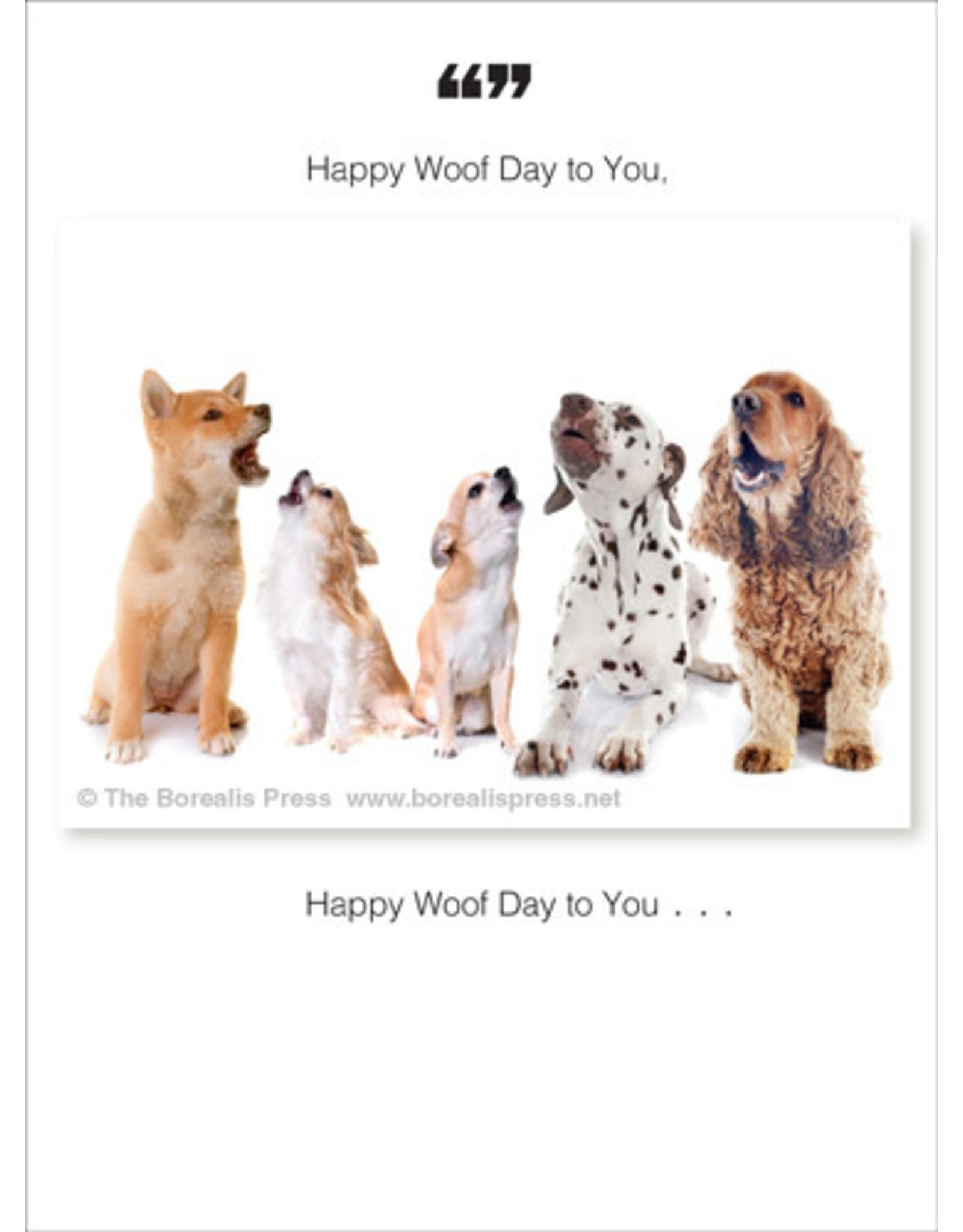 Borealis Press Happy Woof Day Card