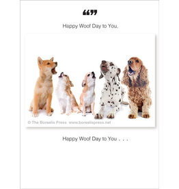 Borealis Press Happy Woof Day Card