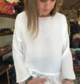 URU Malibu Silk Ruffle Top