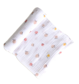 Pehr Organic Cotton Swaddle - Strawberry Fields