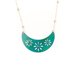 Matr Boomie Chameli Necklace - Teal Petal