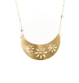 Matr Boomie Chameli Necklace - Gold Petal