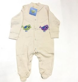 Lou & Dejlig Birds Org. Cotton Footie Sleepsuit