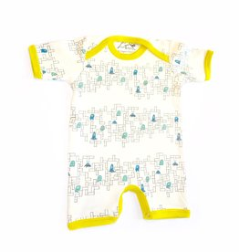Lou & Dejlig Toddler Print Shorts Bodysuit - Org. Cotton