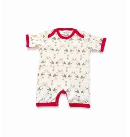 Lou & Dejlig Infant Print Shorts Bodysuit - Org. Cotton